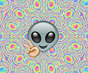 alien, hipster, and emoji image