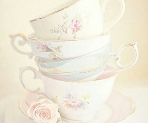 rose and tea cups image