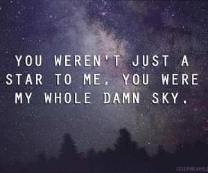 stars, sky, and quotes image