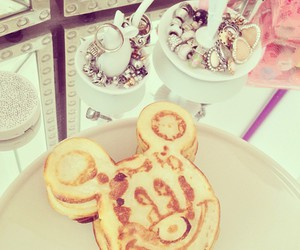 pancakes, love, and mickey image