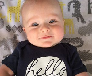 baby, cute, and hello image