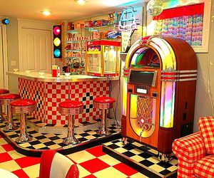 50's, diner, and fashion image