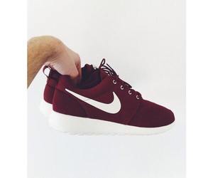 nike, girl, and maroon image