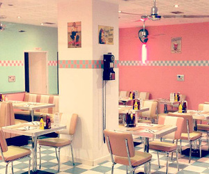 american, 50's style, and peggy sue's diner image