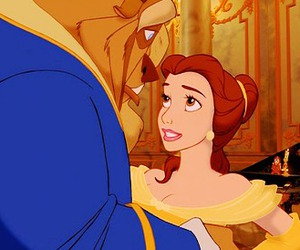beauty and the beast and love image