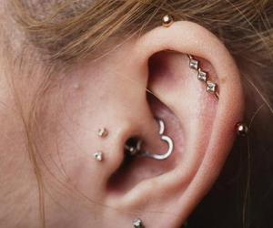 earrings and piercing image