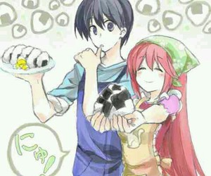 anime, couple, and elfen lied image