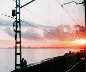 grunge and sunset image