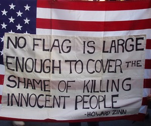 flag, quote, and usa image