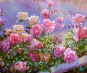 flowers, art, and rose image