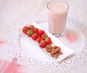 dessert, healthy, and strawberries image