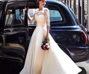 lace, london, and wedding image