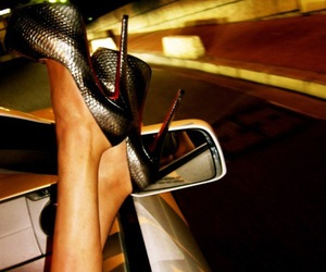 shoes, heels, and car image