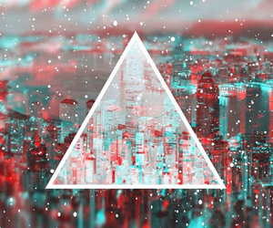 city, wallpaper, and triangle image