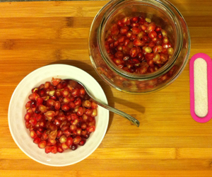 cuisine, pomegranate, and red image