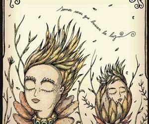 art, light, and sunflowers image