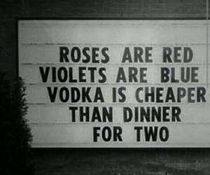 vodka, quotes, and rose image