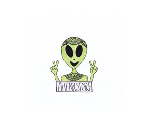 alien, hey, and peace image