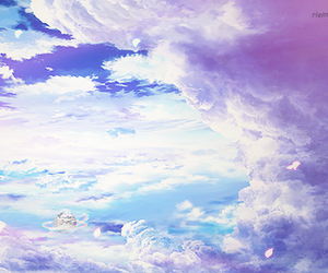 sky, anime, and beautiful image