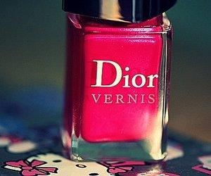 dior, pink, and nail polish image