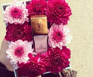 flowers, pink, and YSL image