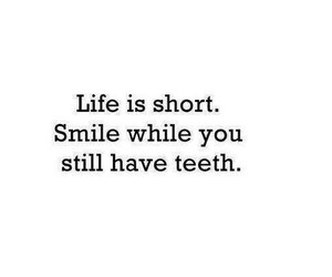 smile, life, and quote image