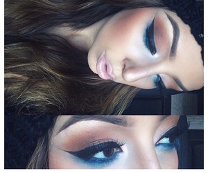 beauty, eye makeup, and eyeliner image