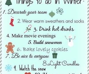 winter, christmas, and list image