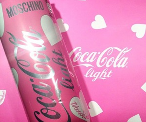 pink, coca cola, and girly image
