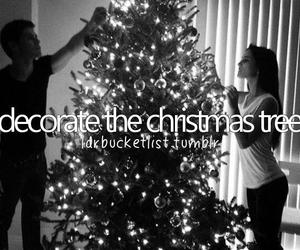 christmas, tree, and decorating image