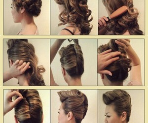 brown, hairstyle, and pretty image