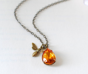 bee, jewelry, and honey image