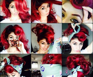 hairstyle, pretty, and red image
