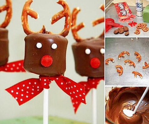 candy, reindeers, and x-mas image