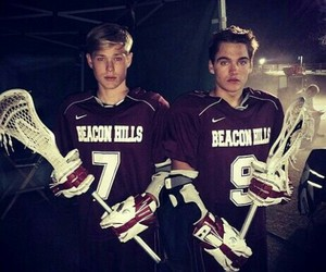 teen wolf, dylan sprayberry, and lacrosse image