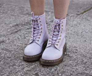 boots, pastel, and purple image