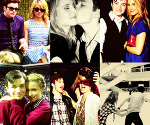 sweet, dianna agron, and chris colfer image