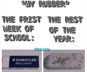 funny, rubber, and school image