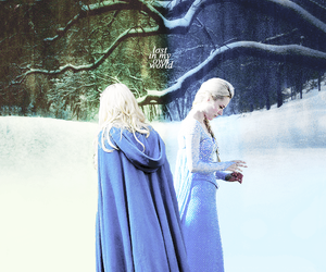 once upon a time, elsa, and emma swan image