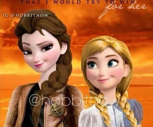 frozen, prim, and katniss image