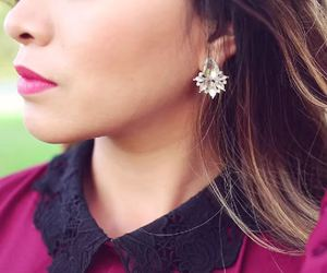 autumn, burgundy, and collar image