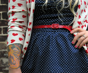 tattoo, dress, and heart image