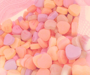 candy, candy heart, and girl image