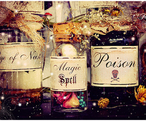 fairy tale, jars, and potion image