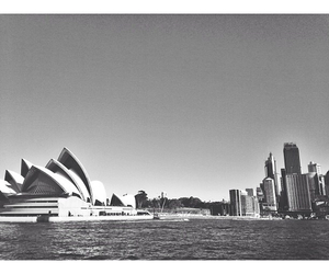 opera house, skyline, and Sydney image