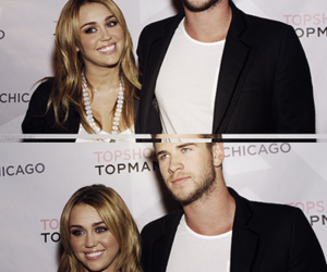 miley cyrus, liam hemsworth, and lcouple image