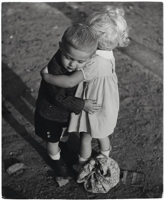 hug, baby, and black and white image