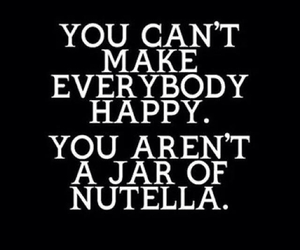 happy, nutella, and quote image