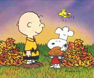 thanksgiving, charlie brown, and turkey image