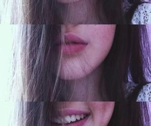 smile, girl, and lips image